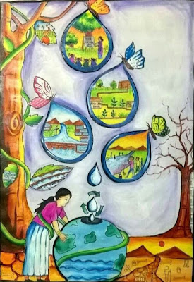 Save-water-drawing-images