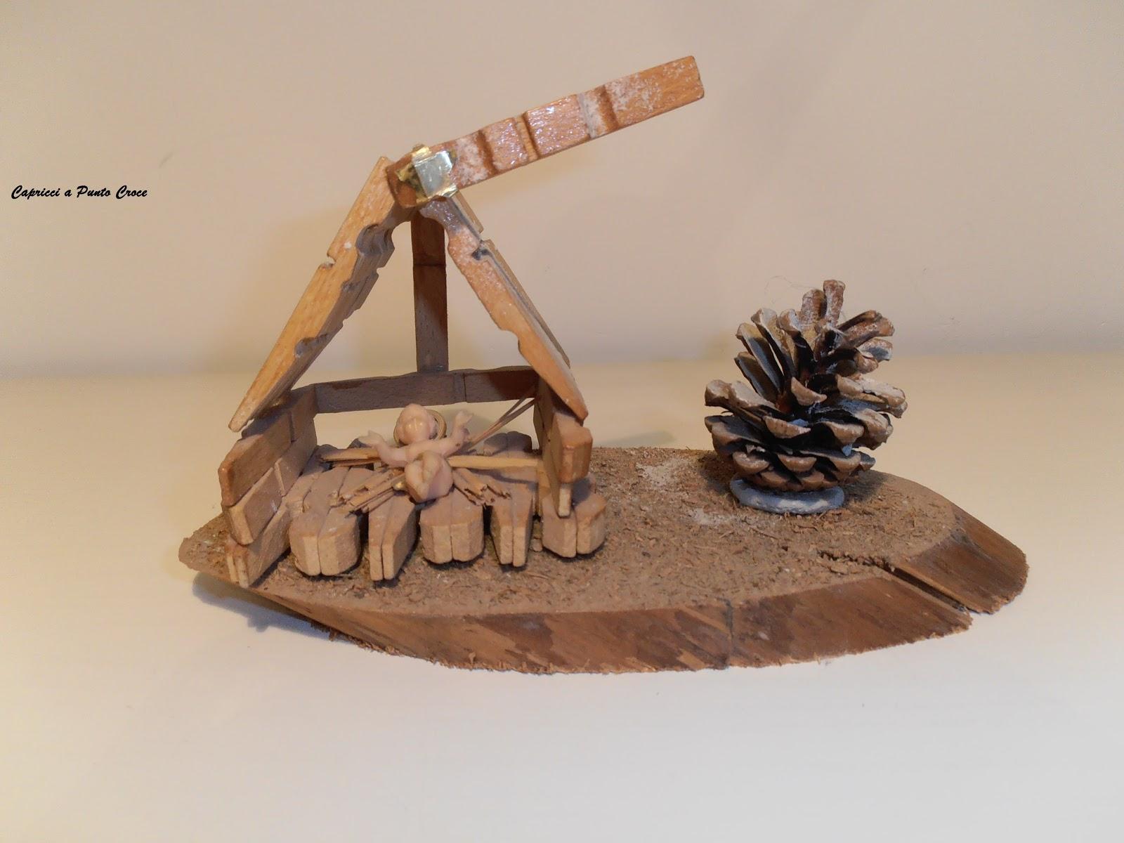 capricci a punto croce mollette di legno e fantasia