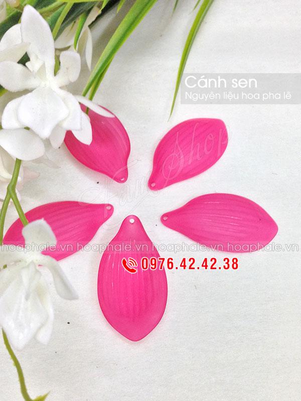 Cánh sen - Nguyên liệu làm hoa pha lê