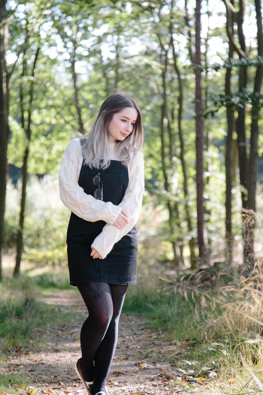 Irish Aran Knit Jumper Sweater Autumn Forest Outfit Casual