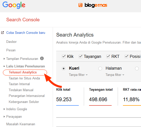 Cara Mengaitkan Search Console Blog dg Google Analytics
