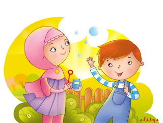 Kartun Muslim Lucu Berpasangan