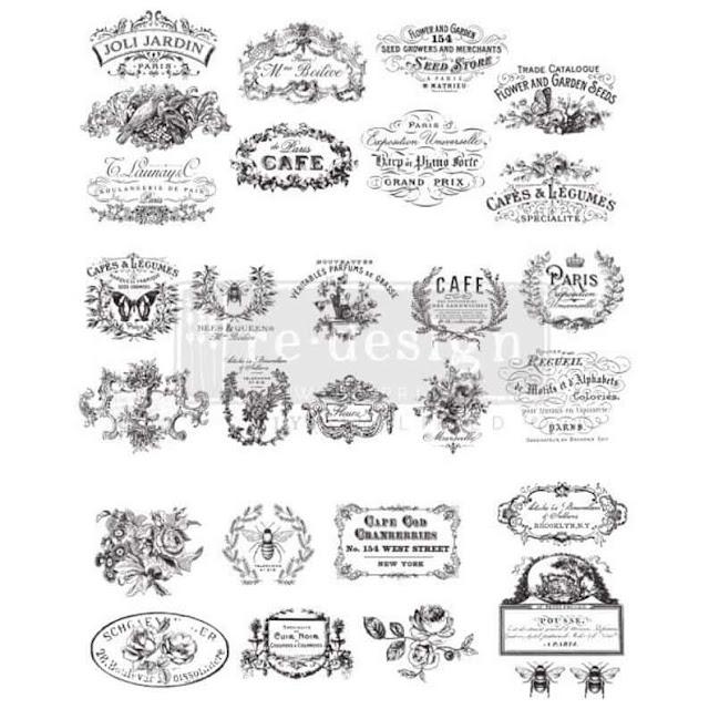 Photo Vintage Labels decor transfer sheet