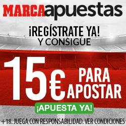 Llevate 15€ GRATIS por registrarte en MARCA Apuestas
