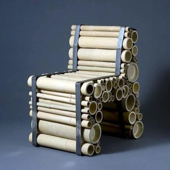 9 Desain Kursi Unik Berbahan Bambu