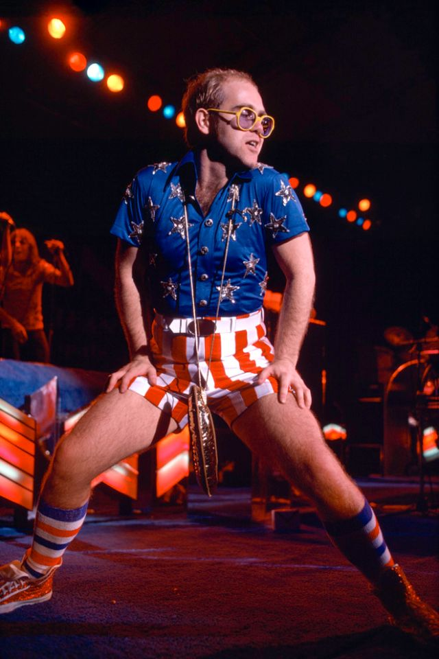 30 Flamboyant Stage Costumes of Elton John During the 1970s