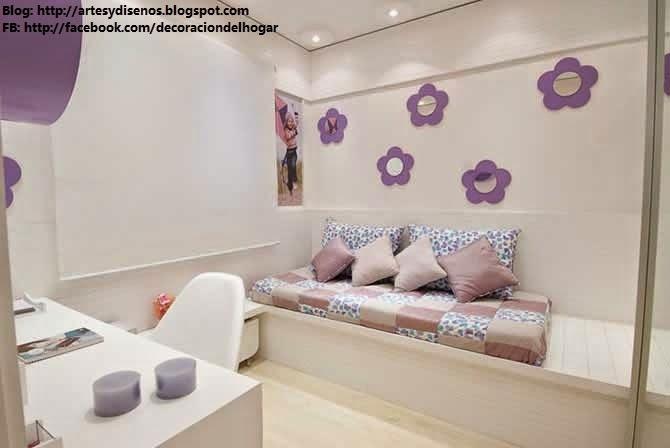 Dormitorios delicados para ni as quarto meninas for Decoracion habitaciones nina 8 anos