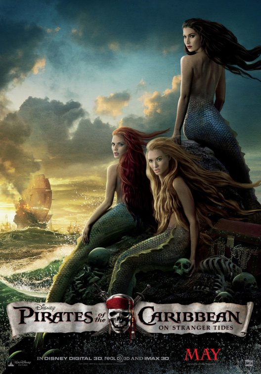 Pirates of the Caribbean mermaids poster