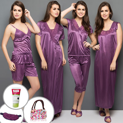 6 Piece Nighty Set