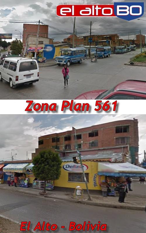 Plan 561 (1966): Zona de Distrito 1 de El Alto, Bolivia