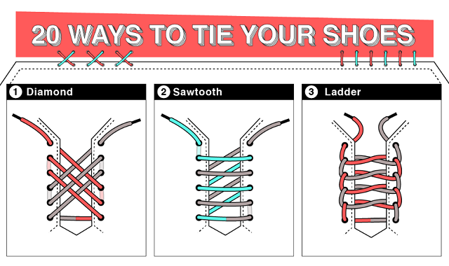 20 Creative Ways to Tie Your Shoes