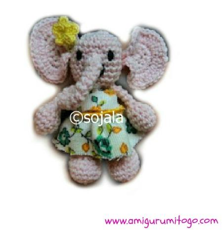 Gracie the Tiny Elephant Free Crochet Pattern