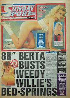Cover page of the Sunday Sport newspaper from 17 April 1988