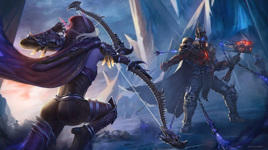Sylvanas Windrunner vs. Lich King, World of Warcraft, 4K, #3.2709