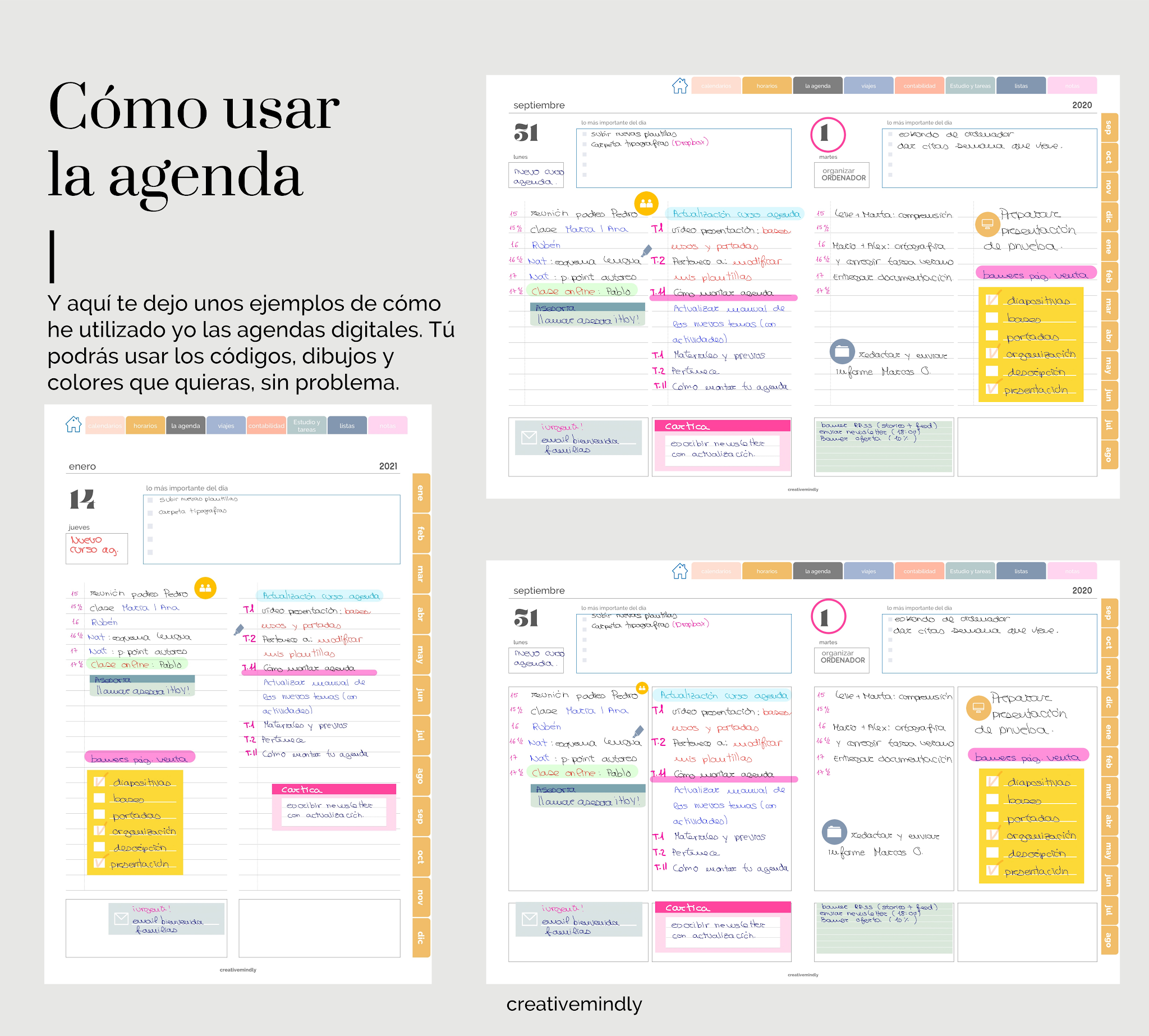 agenda digital bonita IPAD 2021
