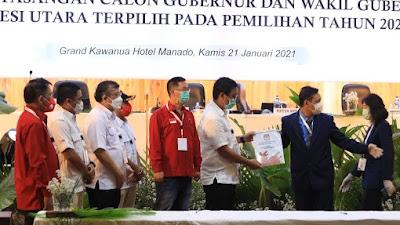 KPU Sulut Tetapkan Olly-Steven, Gubernur dan Wakil Gubernur Terpilih