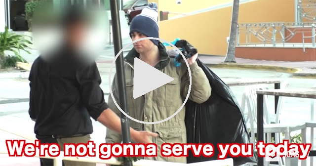 Guy Who Dresses As A Homeless Gets Rejected By Restaurant In This Social Experiment