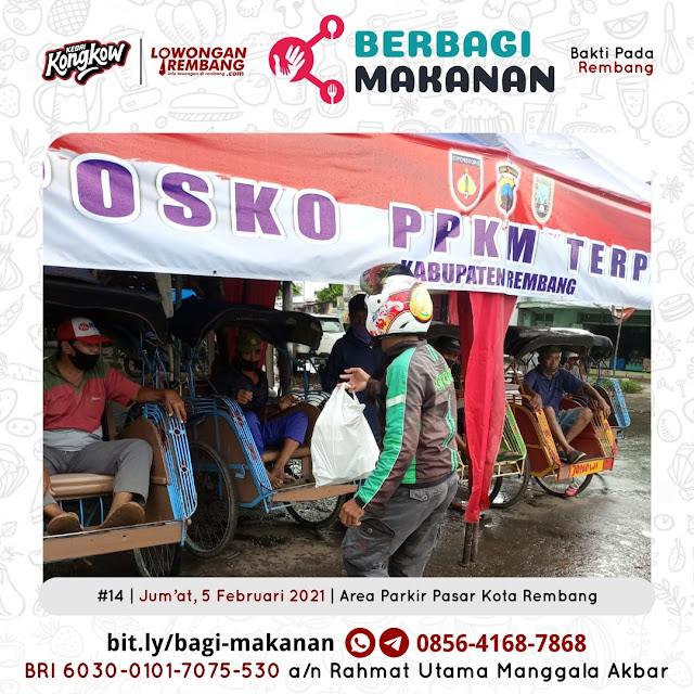 Dokumentasi Berbagi Makanan Ke-14 Dari Kedai Kongkow Rembang Dan Lowongan Rembang