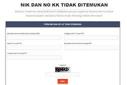 Solusi JIKA NIK & No KK tidak DITEMUKAN SERTA Data tidak SESUAI NIK & No KK Pada PENDAFTARAN CPNS 2018