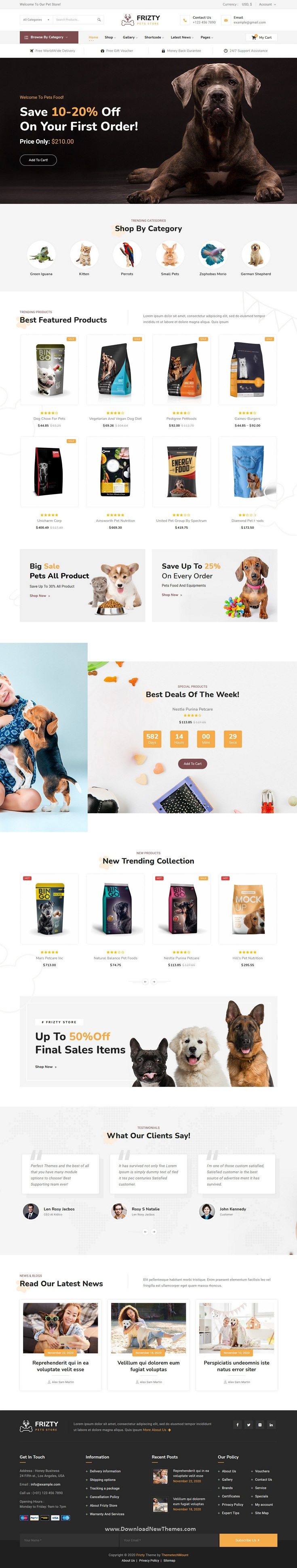 Pet Shop WooCommerce Theme
