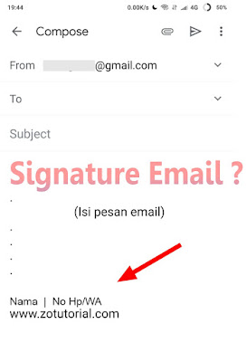 Membuat Signature Email Gmail di HP Android by zotutorial