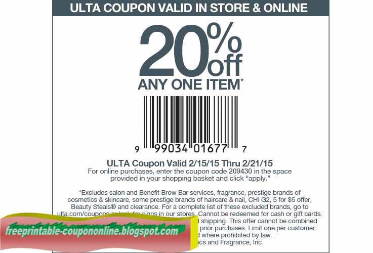 Ulta coupons printable 2018 april
