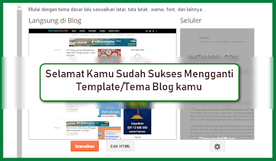cara ganti template blog