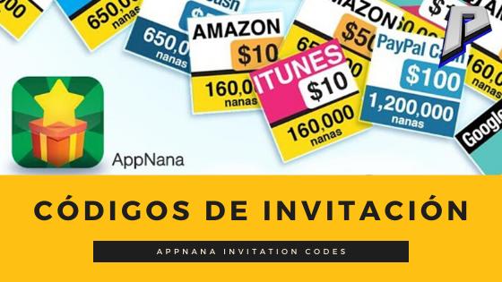 códigos appnana 2020