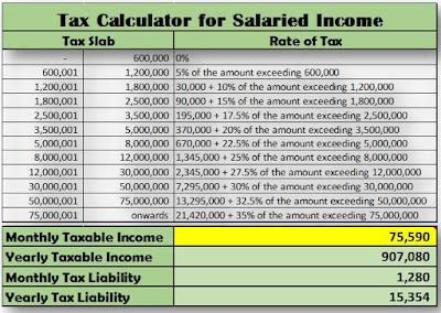 Tax Calculator in Excel