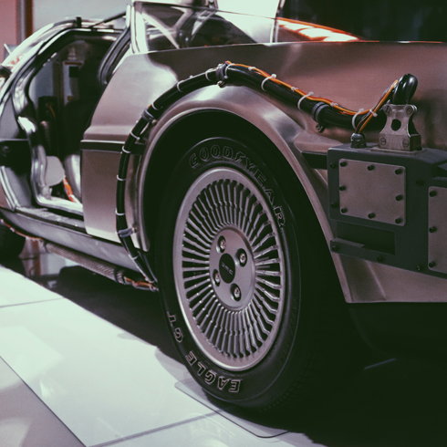 Back to the Future DeLorean Location Petersen LA