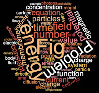 A word cloud, from the textbook Intermediate Physics for Medicine and Biology.