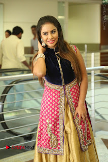 Telugu Actress Sri Reddy Mallidi Stills in White Beautiful Dress at Marriage Needs Bridal Fashion Week 2017 Logo Launch  0152.JPG