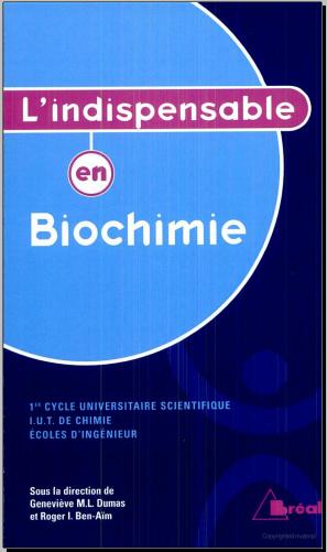 Livre : L'indispensable en Biochimie - Françoise Valentini, Bréal (2005) PDF