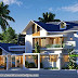 2049 sq-ft 3 bedroom modern sloping roof home