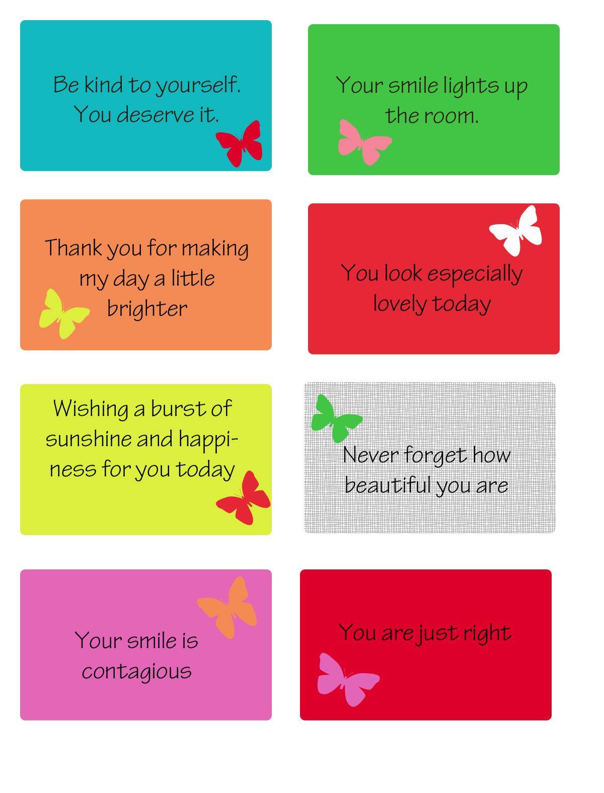 Mrs Ricefield Kindness Printables