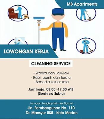 Lowongan Kerja Medan Juni 2020 di MB Apartements Posisi Sebagai Cleaning Service