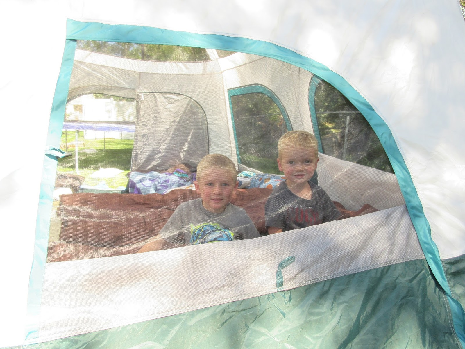 Sleeping In Tent In Backyard : The boys were super excited to sleep in the tent