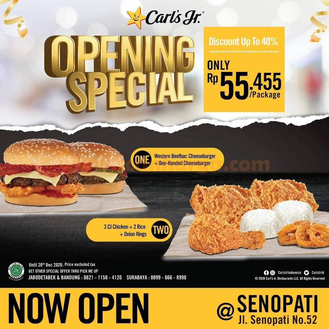 Carls Jr Senopati Opening Promo Paket Spesial Disc 40%