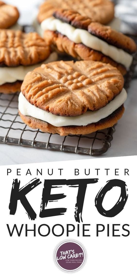 Low Carb Peanut Butter Whoopie Pies