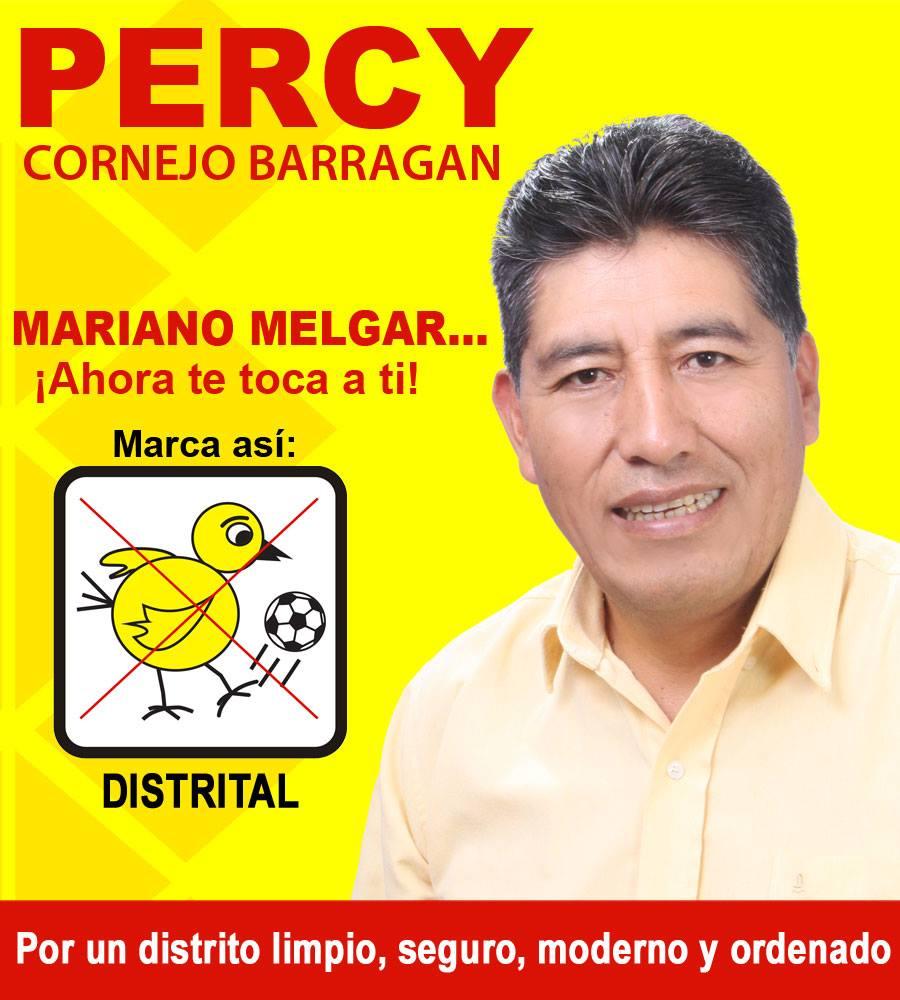 Percy Cornejo Barragán Alcalde de Mariano Melgar