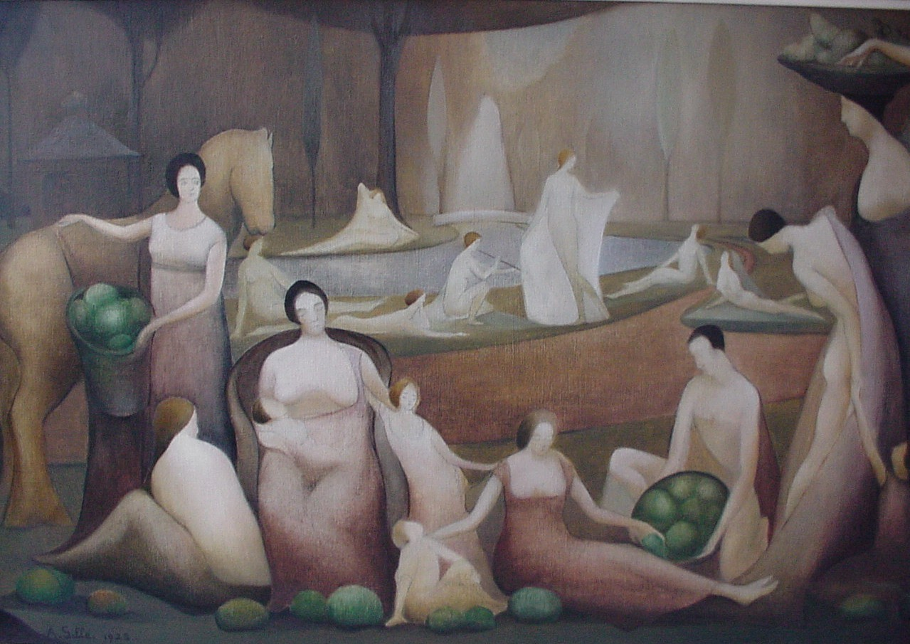 August Gillé 1892-1989 | Belgian painter and sculptor