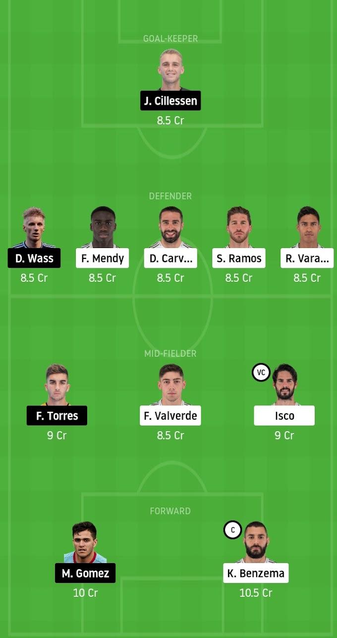 La Liga 2019-20 - Real Madrid Vs Valencia Dream11 Prediction