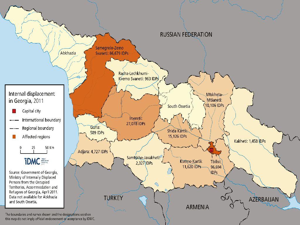 map of georgia in europe