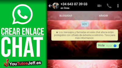 como crear enlace de mi chat de whatsapp