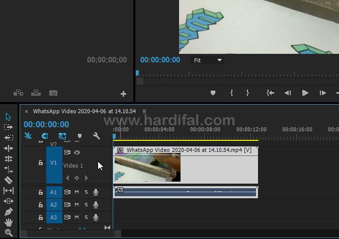 Perbesar footage video pada timeline adobe premire pro cc