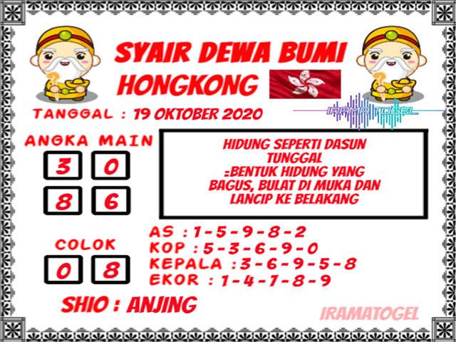 Kode syair Hongkong senin 19 oktober 2020 188