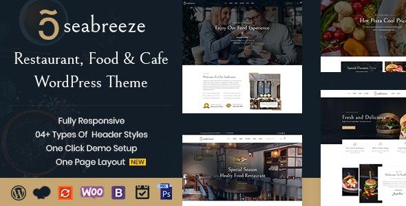 Restaurant and Cafe WordPress Theme