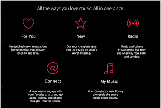 image of apple music app options