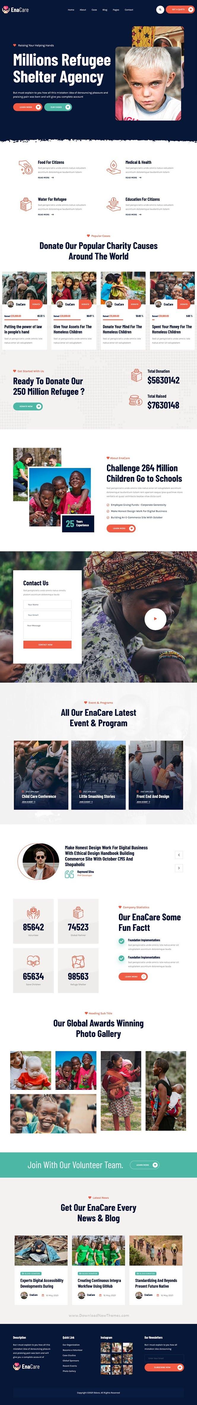 NonProfit & Charity Foundation WordPress Theme