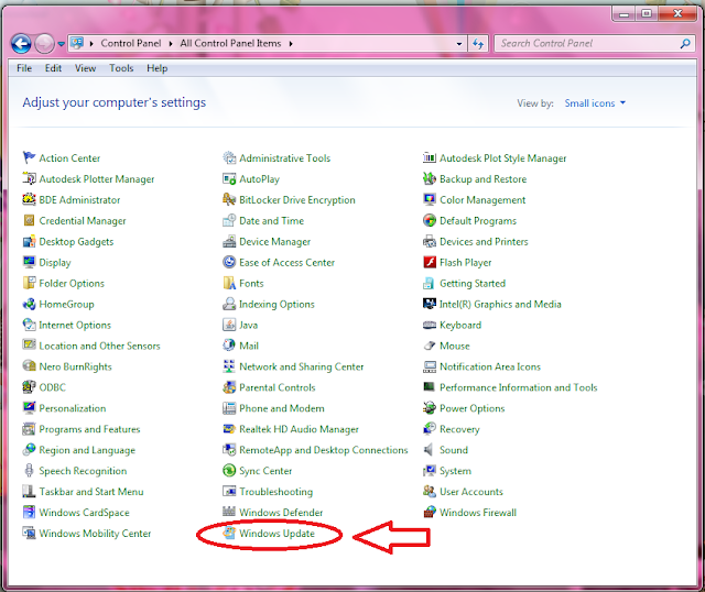 Cara mematikan windows update pada windows 7